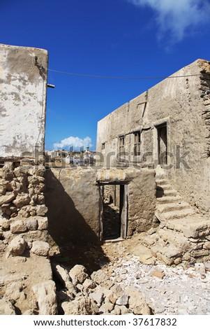 abondoned house of Mirbat town, Oman - stock photo
