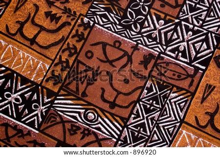 aboriginal design from a native cloth - stock photo