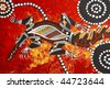 aboriginal style design - stock photo