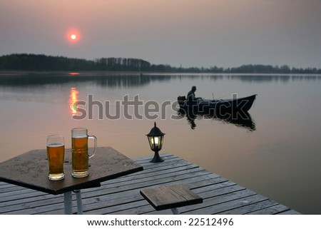 About beer and evening fishing