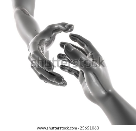 About to handshake for business deal - stock photo