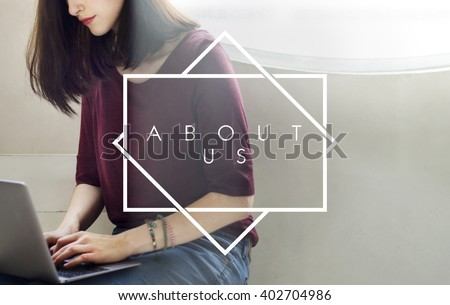 About Us Company Profile Page Concept - stock photo