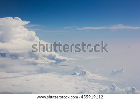 above cloud gradient blue sky background only