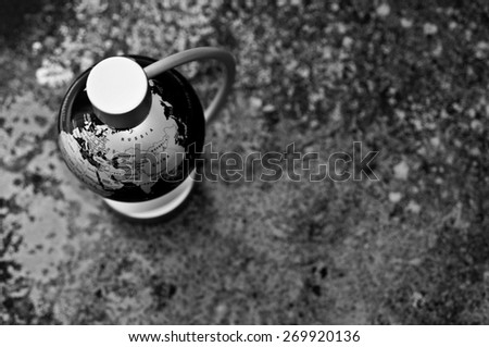 Above Globe - stock photo