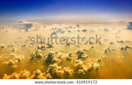 Above the clouds. - stock photo