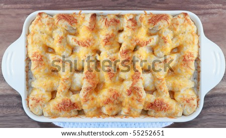 Above view of Chicken Pot Pie. - stock photo