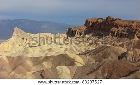 above Zabriskie Point in Death Valley - stock photo