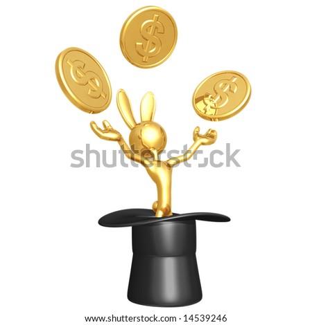 Abracadabra Dollar - stock photo