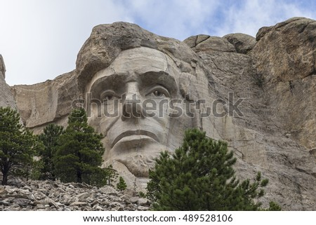 Abraham Lincoln At Mount Rushmore