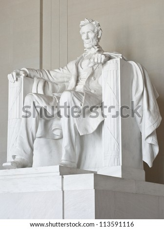 Abraham Lincoln Memorial in Washington DC - stock photo