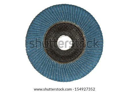 Abrasive disks on a white background