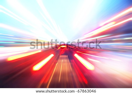 abstract acceleration motion - stock photo