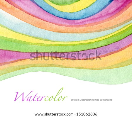 Abstract acrylic and watercolor painted background - stock photo