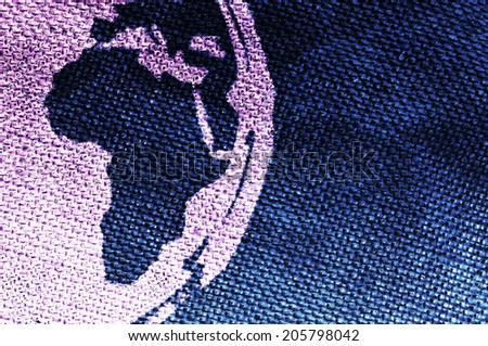 Abstract Africa grungy background printed on canvas - stock photo