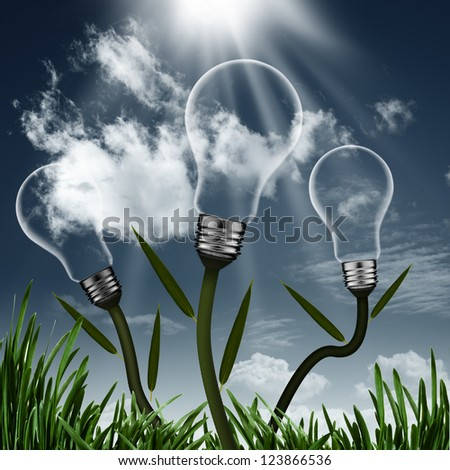 Abstract alternative energy backgrounds for your design - stock photo