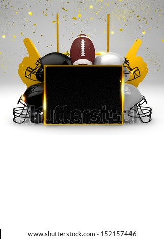 Abstract American Football invitation background with space - stock photo