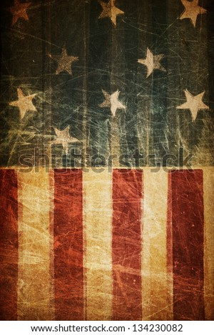 Abstract american patriotic background (based on flag theme) - stock photo