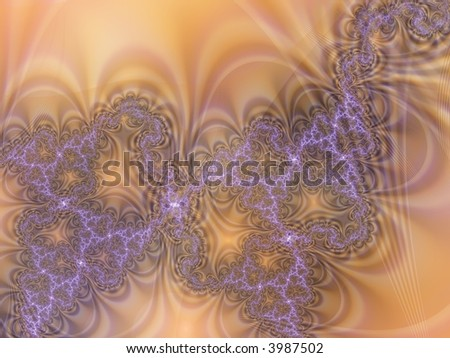 Abstract and chaos color fractal background