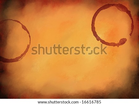 Abstract and grunge digital paint background textured with cup stains