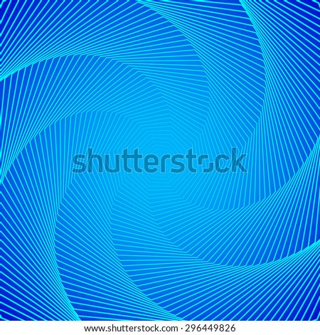 abstract angular dark blue pattern with aqua texture with cyan stairs with turquoise line on aquamarine background. raster illustration - stock photo