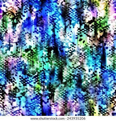 Abstract Animal Skin Seamless Pattern - stock photo