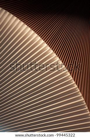 Abstract arc jalousie - stock photo