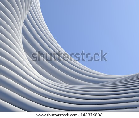 Abstract architectural background. Geometric shapes creative wallpaper - stock photo
