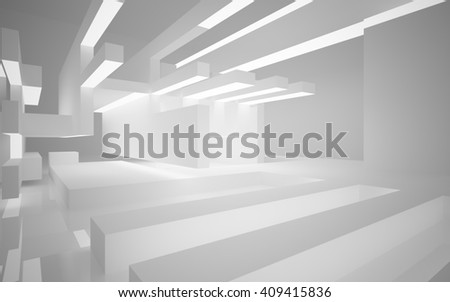 Abstract architectural background of the polygons. 3D illustration. 3D rendering