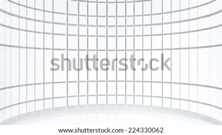 abstract architectural background with white plastic panels