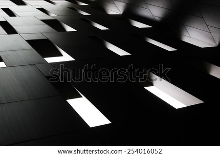 Abstract architectural composition with perspective - stock photo