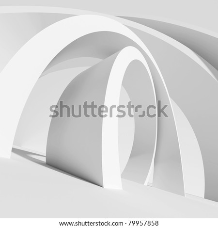 Abstract Architectural Shape - stock photo