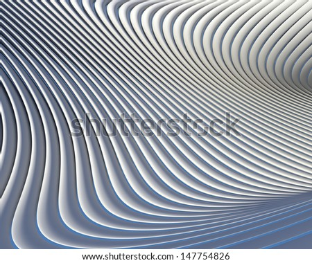 Abstract architectural wallpaper. Elegant creative curves background design