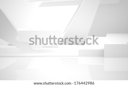 Abstract Architecture. abstract white building on a white background. - stock photo