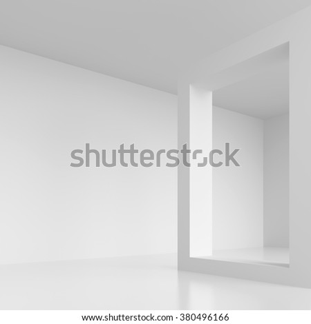 Abstract Architecture Background. 3d White Geometric Design - stock photo