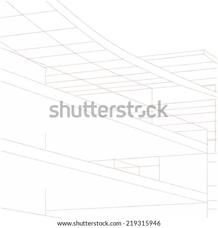 abstract architecture building 3d sketch