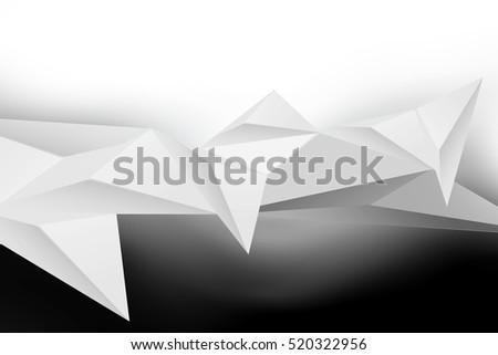 Abstract Architecture 3d Geometric Gray White Background Polygonal Relief Design