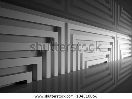 Science Fiction Interior Scene Scifi Dark Stock