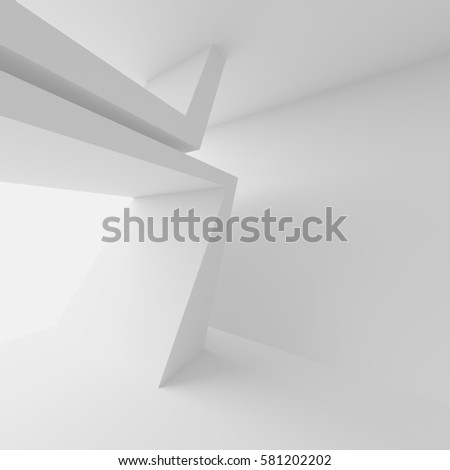 Abstract Architecture Design White Modern Background Stock