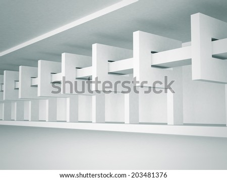 Abstract Architecture Interior Design Background. 3d render illustration - stock photo