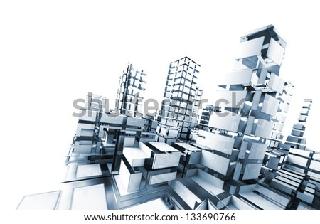 abstract architecture .technology and architecture concept - stock photo