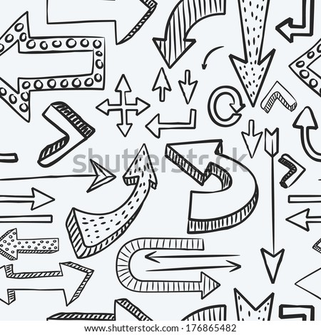 abstract arrow seamless pattern