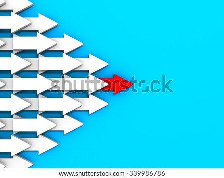 Abstract Arrows Flow Wall Background. 3d Render Illustration - stock photo