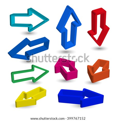 Abstract arrows on white background.