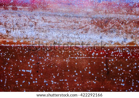 Abstract art background as seen through the camera lens at closeup angle / Abstract background / Faded and peeled painted surface colorized to give special effects to elevate the background objective - stock photo