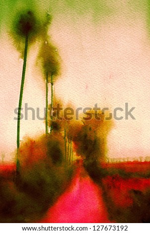 abstract art background painting - stock photo
