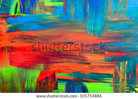 Abstract art backgrounds. Hand-painted background. SELF MADE
