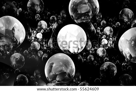 Abstract art  - balls  black-white     , backdrop (wallpaper)background