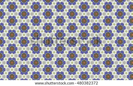 Floral Pattern On Old Turkish Tiles Stock Photo 10745122 ...