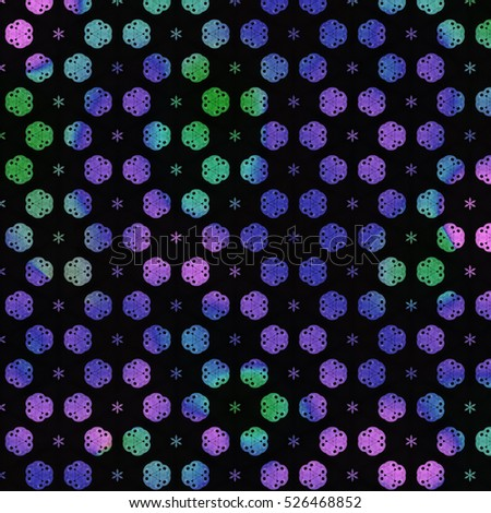 Abstract art classic luxury and elegant style pattern background in popular modern flower design trend 2017 for print on card paper fabric poster carpet and book cover, Raster type in colorful tone