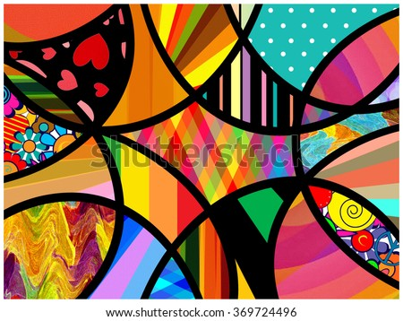 Abstract Art Collage - stock photo